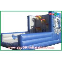 Buy cheap Indoor Blue Inflatable Bounce House Adult Bouncy Castles For Basketball Shooting Games from wholesalers