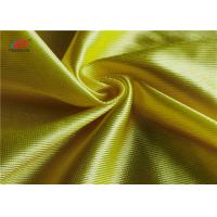 Buy cheap Breathable Yellow Polyester Warp Knit Fabric Shiny Dazzle Basketball Clothing Using from wholesalers