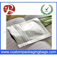 Buy cheap Aluminum Foil Plastic Ziplock Bags Silver 110 Microns For Food Packaging from wholesalers