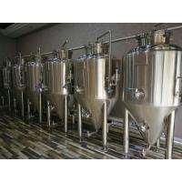 Buy cheap Sus304 Conical Beer Fermenter Cooling Jacket 500l With Top Flange Manhole from wholesalers