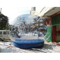 Buy cheap Christmas PVC Tarpaulin PVC Giant Inflatable Snow Globe Winter Wonder Snow Ball from wholesalers