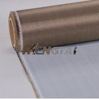 Buy cheap Basalt Fiber Cloth/Fabric Coated PU for heat sealing machine from wholesalers