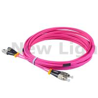 Buy cheap 3 / 5 meters FC - FC multi mode duplex fiber patch cord OM4 3.0 cable from wholesalers