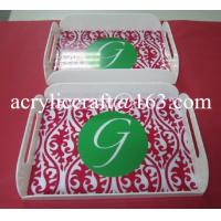 Buy cheap 2015 new white bar serving tray, acrylic drink serving tray for hotel supplies from wholesalers