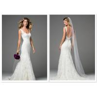 Buy cheap Fabrics A Line Fit And Flare Wedding Gown Bold Back Design Light Luxury Trailing from wholesalers