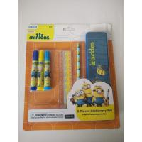 Buy cheap Promotionnal 6 pcs stationery gift set ( 3 water color brush ;1 ruler ;1 pencil ;1 pencil case ) from wholesalers
