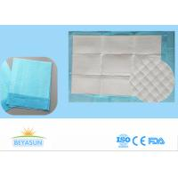 Buy cheap Disposable Incontinence Bed Sheets Protectors , Sanitary Bed Pads Blue Color from wholesalers