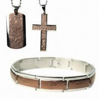 Buy cheap Stainless Steel Bracelet, Ring and necklace, Customized Jewelry Set from wholesalers