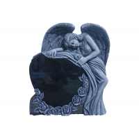 Buy cheap 10cm Shanxi Black Weeping Angel Monument Headstone product
