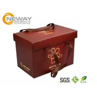 Buy cheap Custom Gift  Food Boxes , Deluxe Customized Artpaper Handle Cake Box With PVC Window from wholesalers