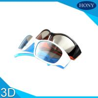 Buy cheap Hard Coating Frame Linear Polarized 3D Glasses With Black / Orange Color from wholesalers