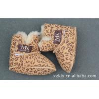 Buy cheap Wholesale Shoes Kids Children Glitter Suede Leather Winter Baby Shoes,sheepskin double face from wholesalers