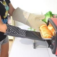Buy cheap Long BBQ / Grill Heat Resistant Oven Mitts For Kitchen 18x38cm from wholesalers
