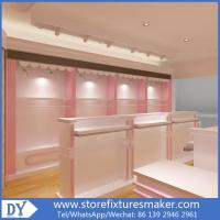 Buy cheap Factory OEM Supplier mdf  wooden  in pink white lacquer Baby Girl Clothing Stores display furnitures from wholesalers