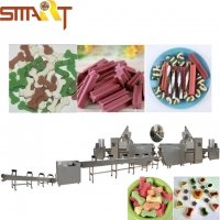 Buy cheap Double Color Snacks Food Pet Treat Machine Chewing Gum Extruder from wholesalers