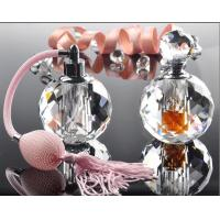 Buy cheap Hot Stamping 10ml Mini Crystal Perfume Bottles With Bulb Sprayer Pump from wholesalers
