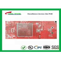 Buy cheap Double sided PCB Gold Plating  Red solder mask LF HASL  ISO9001  UL  ISO SGS from wholesalers
