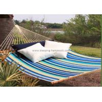Collapsible Heavy Duty Quick Dry Hammock Quilted Fabric With Pillow Beach Stripe