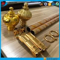 Buy cheap Factory price anodized aluminium engraving pipe curtain rods/poles from wholesalers