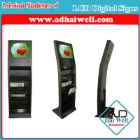 Buy cheap Newspaper Metal Magazine Display Stand with Sumsung LCD Advertising Screen from wholesalers