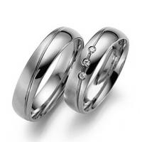 Buy cheap Solid 9ct 18ct white gold men's couple rings diamond wedding rings JSHG65-W from wholesalers