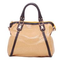 Buy cheap Large Cream-Colored Pu Leather Satchel Handbag For Office Lady , Animal Grain from wholesalers