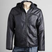 Buy cheap 2012 men's new style hooded leather jacket from wholesalers