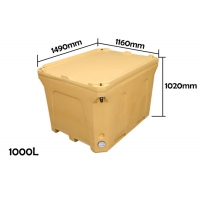 Buy cheap Plastic Rotational Molding 1000L Dry Ice Cold Box For Seafood from wholesalers