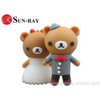 Buy cheap hot sale wedding love bear usb flash drive from wholesalers