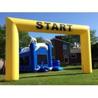 Buy cheap Colorful Inflatable Advertising Products / Inflatable Race Arch Double Triple Stitching Or Hot Sealed from wholesalers