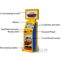 Buy cheap Shoe-cleaning Machine Free Standing Kiosk Three Screens Only One PC Controls from wholesalers