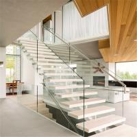Buy cheap Best stairs design for home with 2 sides of steel stringer product