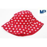 Buy cheap Fashion 100% Polyester Printed Bucket Hats , Floral Bucket Hat Red Color from wholesalers