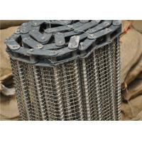 Buy cheap Stainless Steel Wire Mesh Conveyor Belt With Chain Smooth Surface from wholesalers