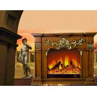 Buy cheap Villa Living Room Remote Control RV Free Standing Electric Fireplace , Adjustable Thermostat from wholesalers