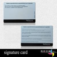 Buy cheap Frosted Blank Printable Laminated Printed Plastic Cards For Car Maintenance from wholesalers