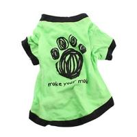 Buy cheap green Pet Puppy Summer Shirt Pet Clothes T Shirt with printing from wholesalers