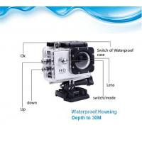 China Mini DV Wifi Action Camera , 1080P Helmet Sport Camera 59*29*41mm on sale