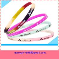 Buy cheap free design thin baseball silicone bracelets from wholesalers