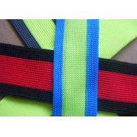 Buy cheap Eco - Friendly Non Elastic Tape , Colorful Reflective Nylon Webbing Strap from wholesalers