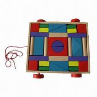 Buy cheap 36-piece Wooden Blocks, Made of Solid Wood, Used for Water Paint from wholesalers