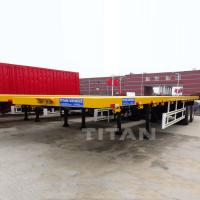 Buy cheap TITAN 2 Axles 40ft Flatbed Trailer from wholesalers