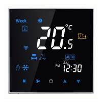 Buy cheap Touch Screen Programmable Fan Coil Thermostat , Wireless Fan Coil Thermostat from wholesalers