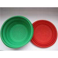 Buy cheap Silicone collapsible colander, silicone colander, silicone strainer, silicone bowl, silicone basket from wholesalers