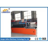 Buy cheap High strength smooth straight door frame cold roll forming machine automatic type PLC system control from wholesalers
