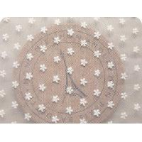 Buy cheap Ivory White Floral Embroidery Cotton Nylon Mesh Lace Fabric 59 Inch Width from wholesalers