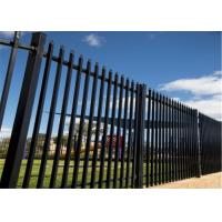 Buy cheap Powder Coated Galvanized Steel Tubular Ornamental Spear Top black outdoor model metal fence,Galvanized Garrison fencing from wholesalers