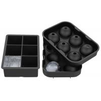 Buy cheap Flexible Large Square Ice Cube Molds , BPA Free 2 Set Silicone Ice Ball Mold from wholesalers
