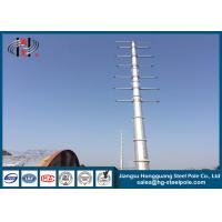 Buy cheap Dodecagonal Hot Dip Galvanized Steel Pole , Steel Transmission Poles For Electrical Power Transmission Line product
