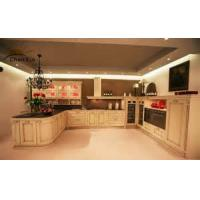 Buy cheap Classic Modular Kitchen Cabinets Indoor Beveled Edge PVC Membrance Surface from wholesalers